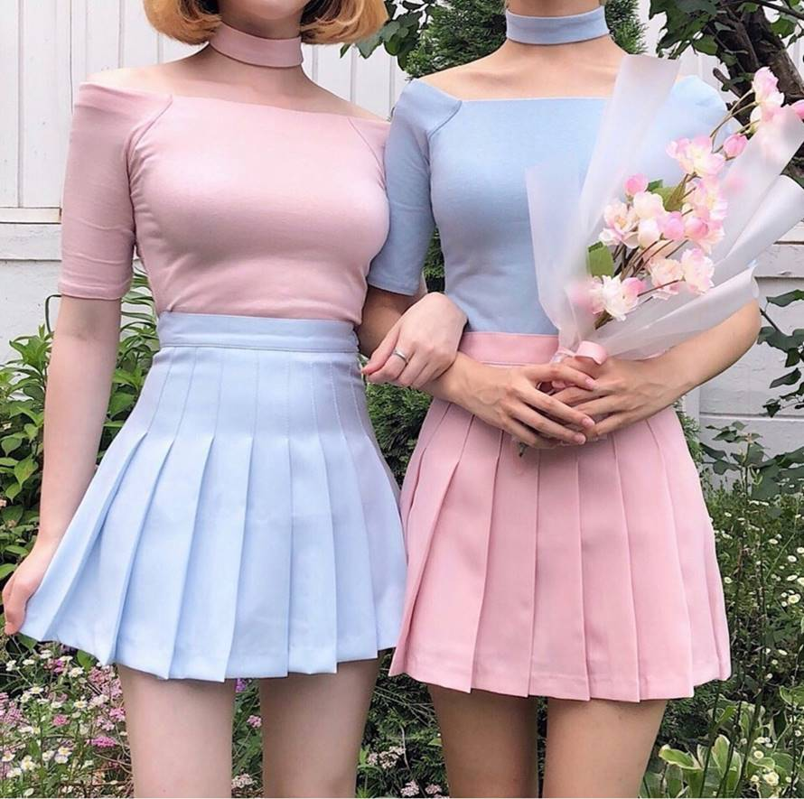 Kawaii Harajuku Pastel Pleated Skirt