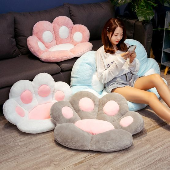 Kawaii Jumbo Cat Paw Seat Cushion – Limited Edition