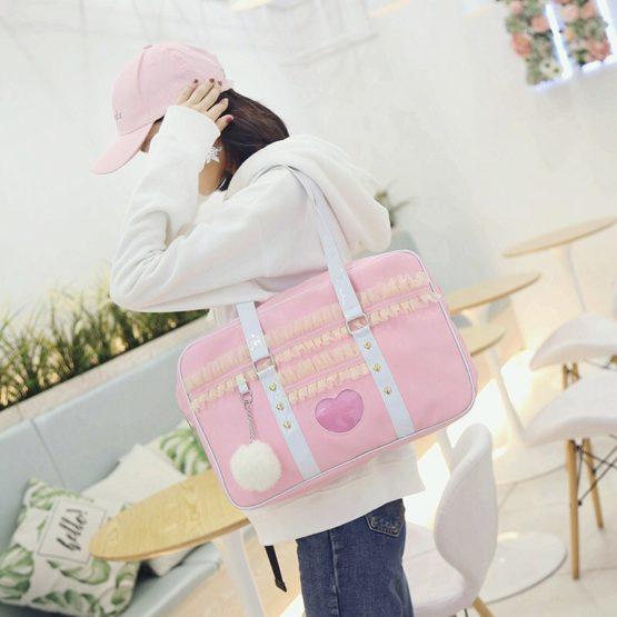 Kawaii Japanese Style Pink Pastel Shoulder Bag