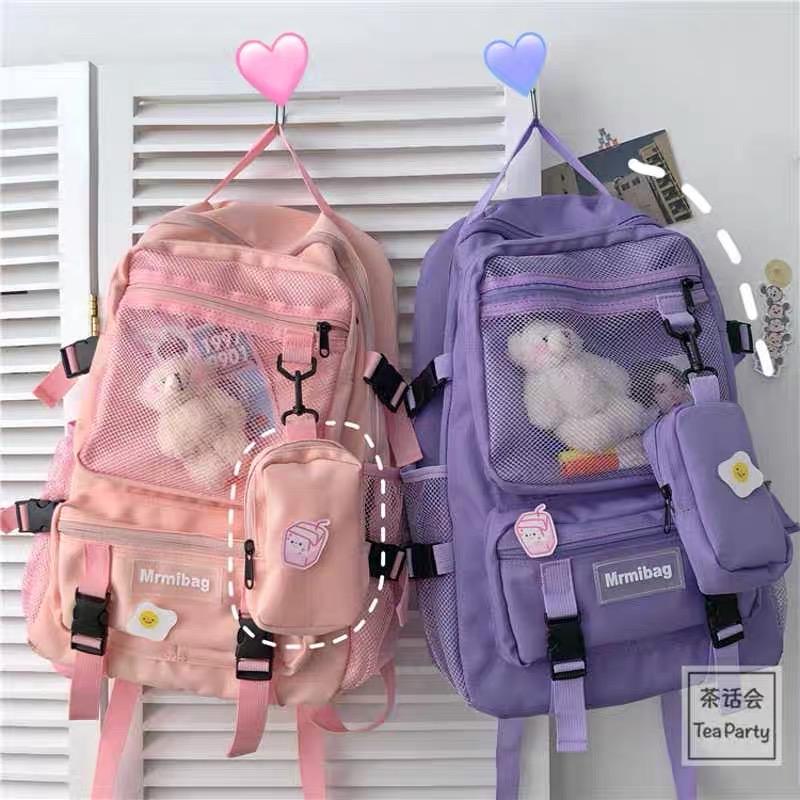 Kawaii Korea Style Multi-Pocket Shoulder Backpack