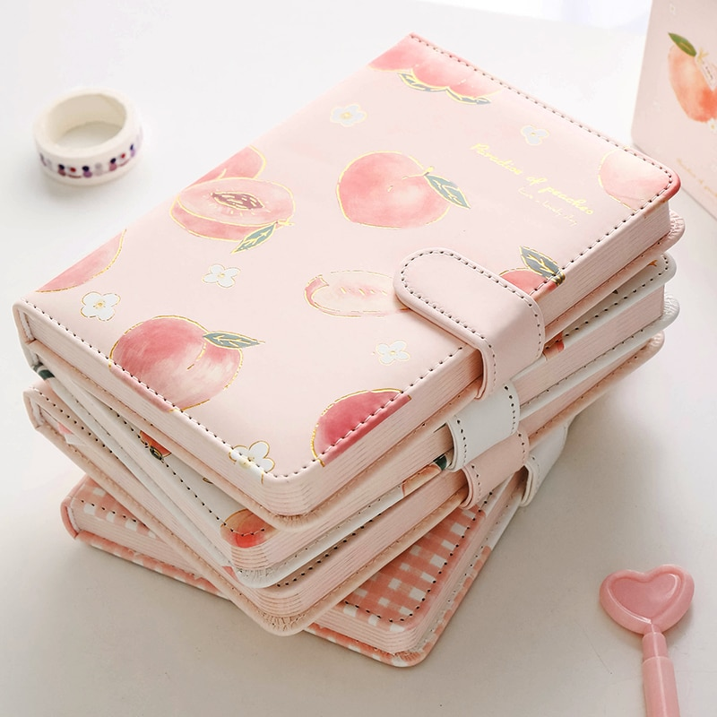Kawaii Peach Notebook with Cover – Limited Edition