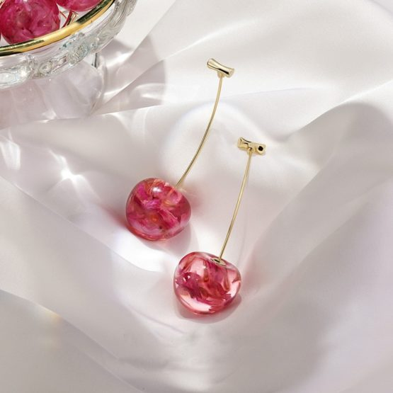 Kawaii Korea Style Cherry Earrings – Limited Edition