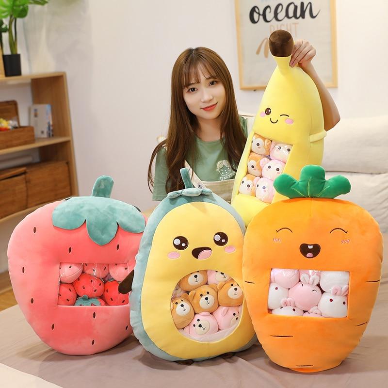 Kawaii Bag of Fruit Stuffed Plush Dolls – Limited Edition