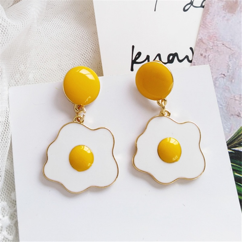 Kawaii Egg Yolk Earrings – Limited Edition
