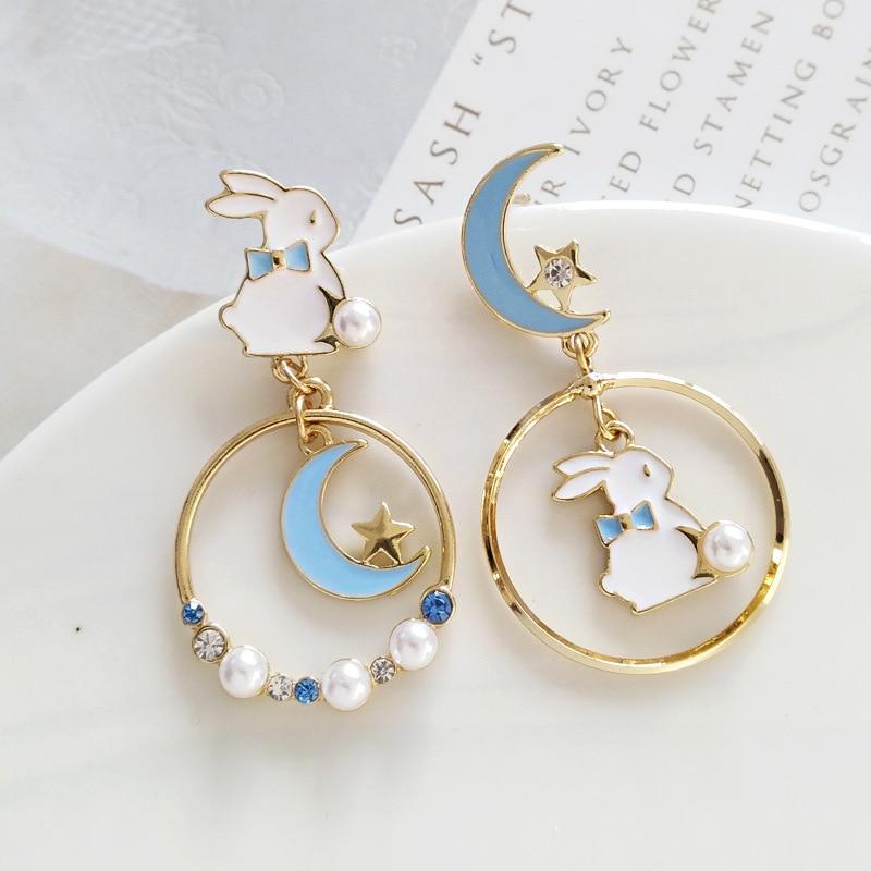 Kawaii Bunny Moon Earrings – Limited Edition