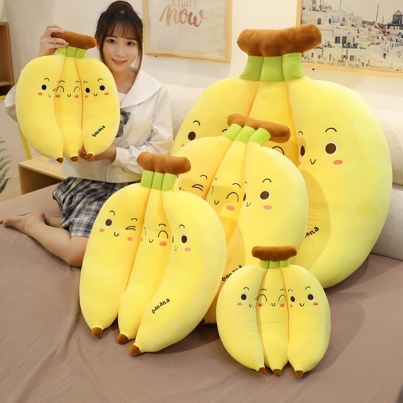 Kawaii Banana Fruit Plush XL (55cm)