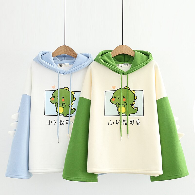 Kawaii Harajuku Baby Dinosaur Hoodie – Limited Edition