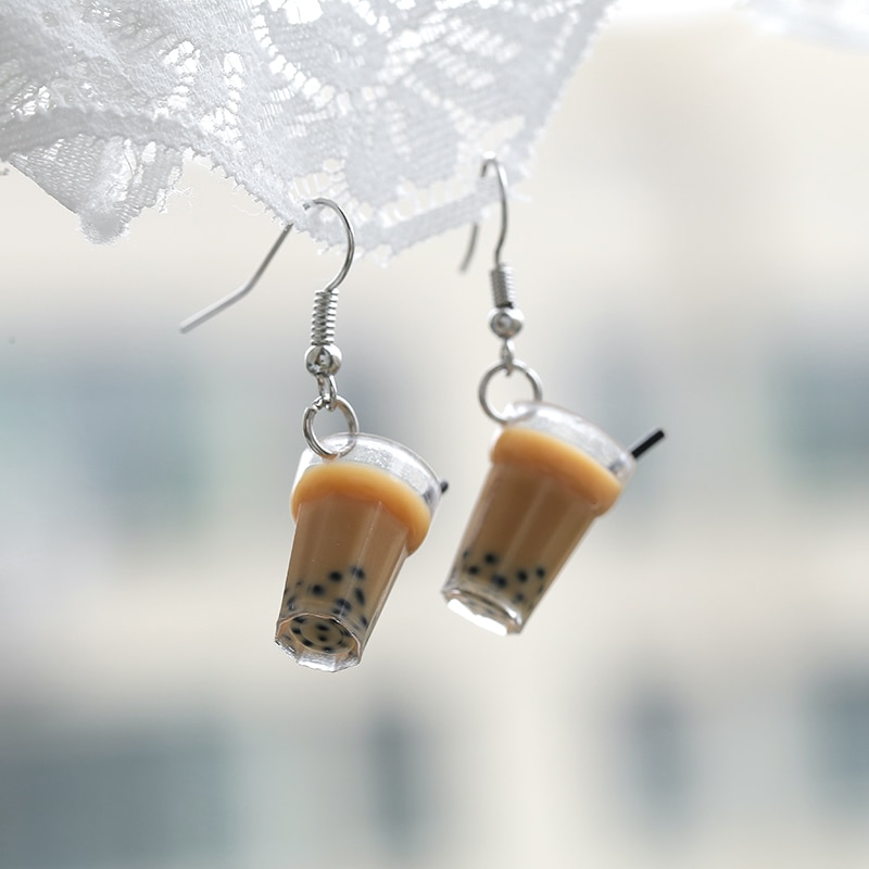 Kawaii Bubble Tea Earrings – Limited Edition