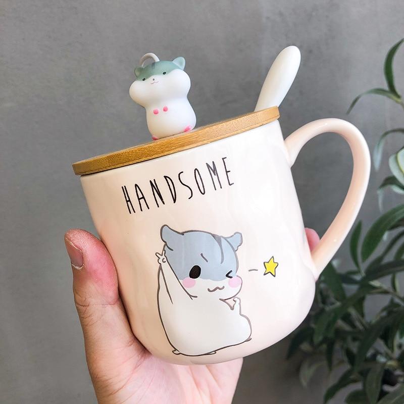 Kawaii Korean Style Hamster Ceramic Cup (400ml)