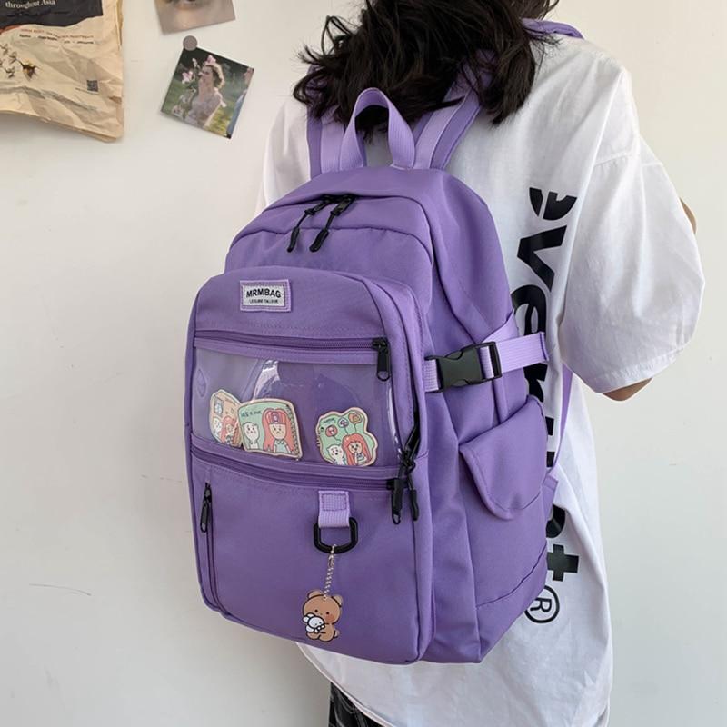 Kawaii Korean Style Pastel College Backpack