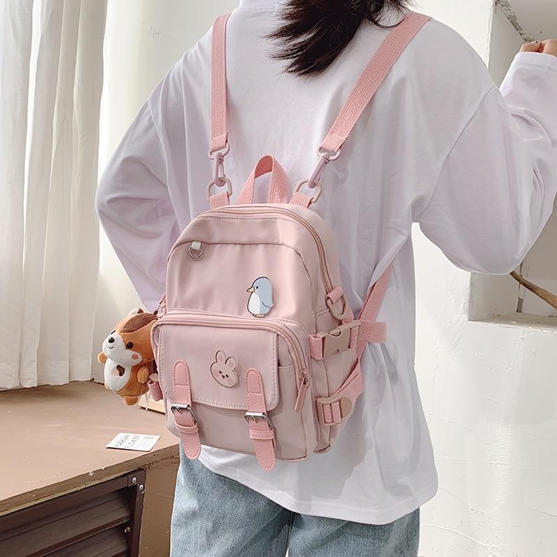 Kawaii Korean Style Canvas Mini Backpack