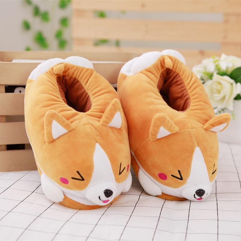 Kawaii Corgi Fluffy Slippers – Limited Edition