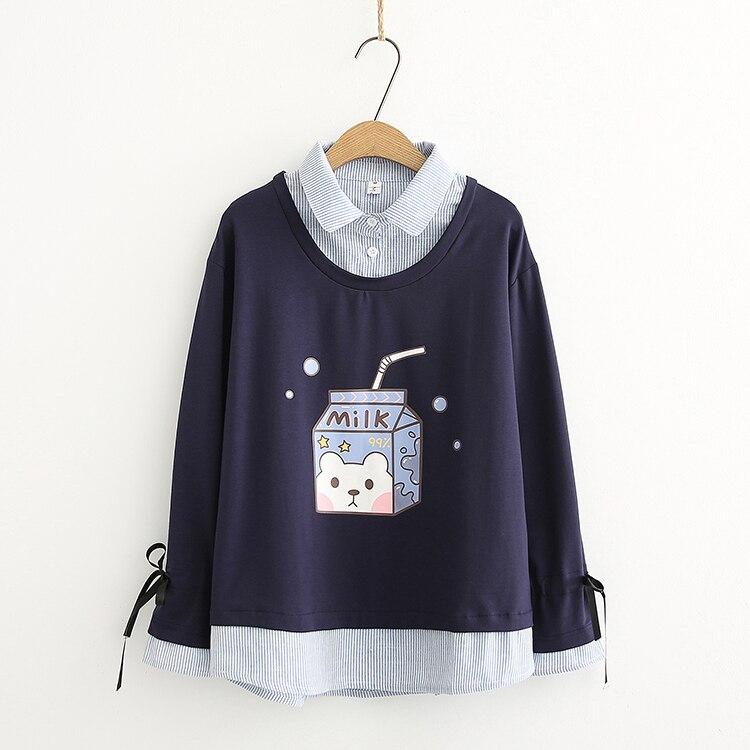 Kawaii Bear Milk Harajuku Sweater – Limited Edition