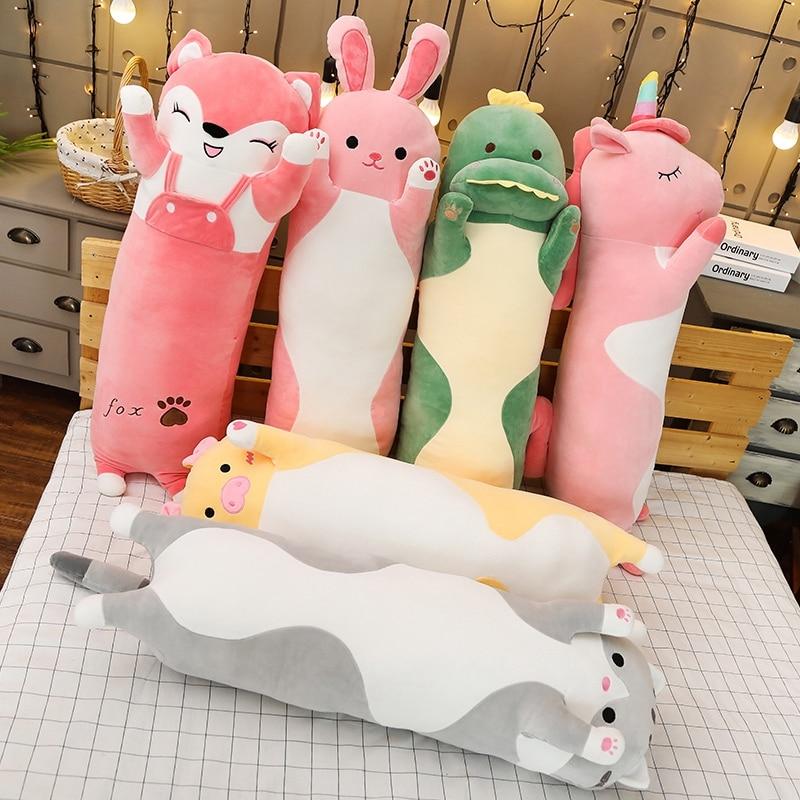 Kawaii Animal Long Pillow Plush XL (80cm)