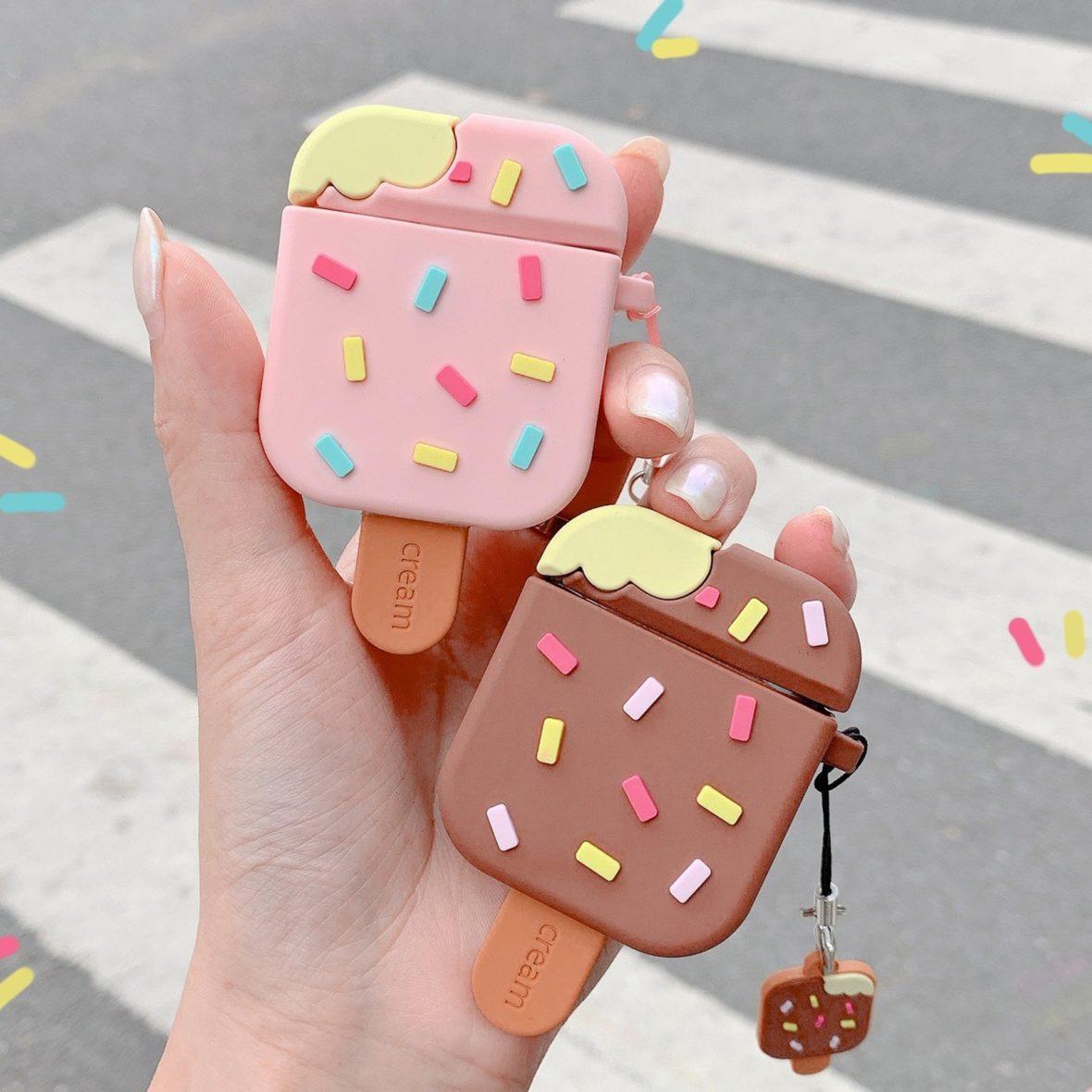 Kawaii Popsicle Ice Cream Protective Earphone Case