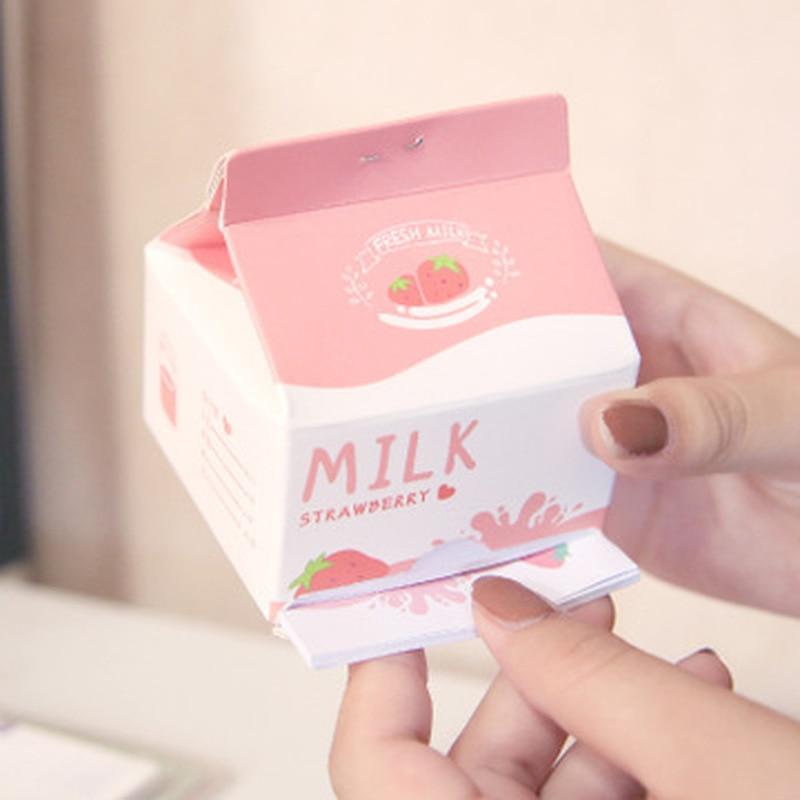 Kawaii Strawberry Milk Memo Notepads