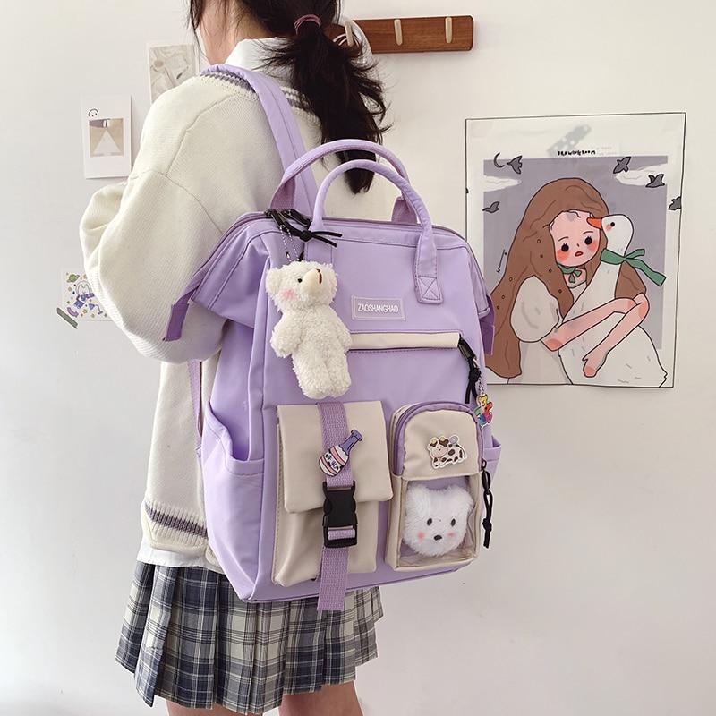 Kawaii Harajuku Style Preppy College Backpack – Limited Edition