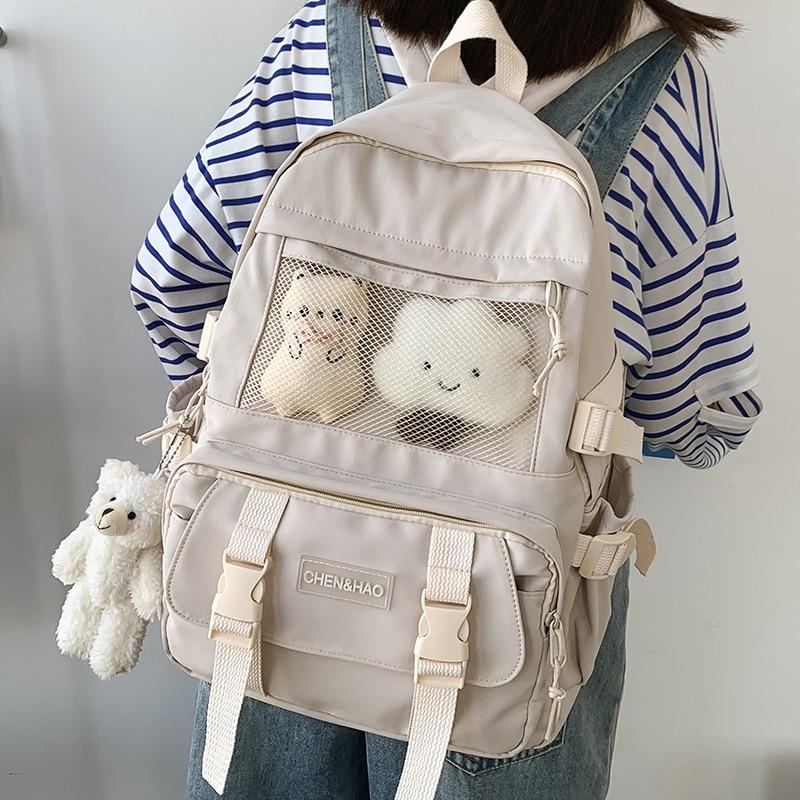 Kawaii Canvas Student Harajuku Backpack – Limited Edition