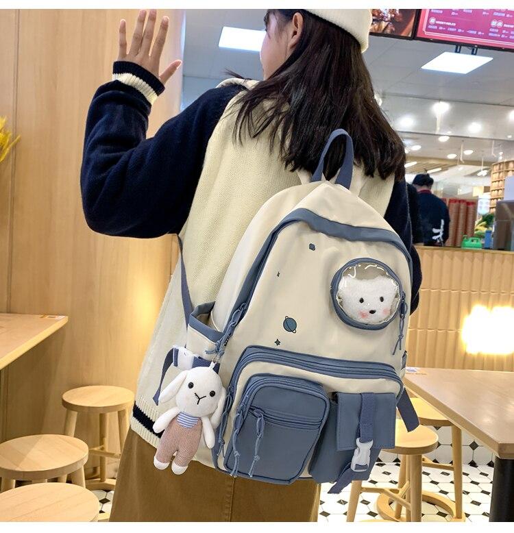 Kawaii Canvas Harajuku Ita Style Backpack