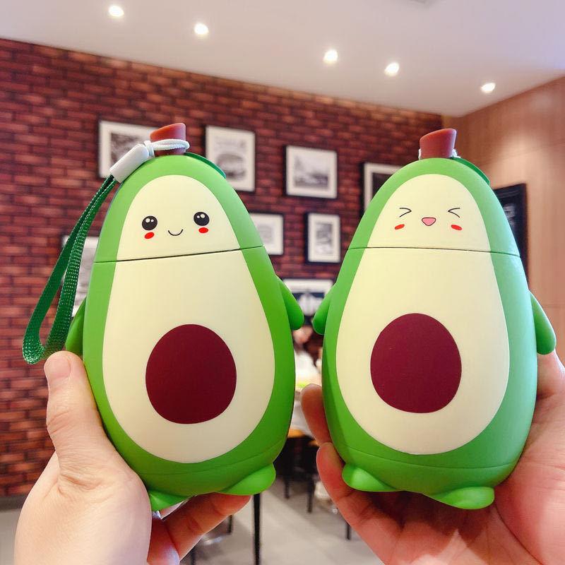 Kawaii Avocado Glass Bottle (280ml) – Limited Edition