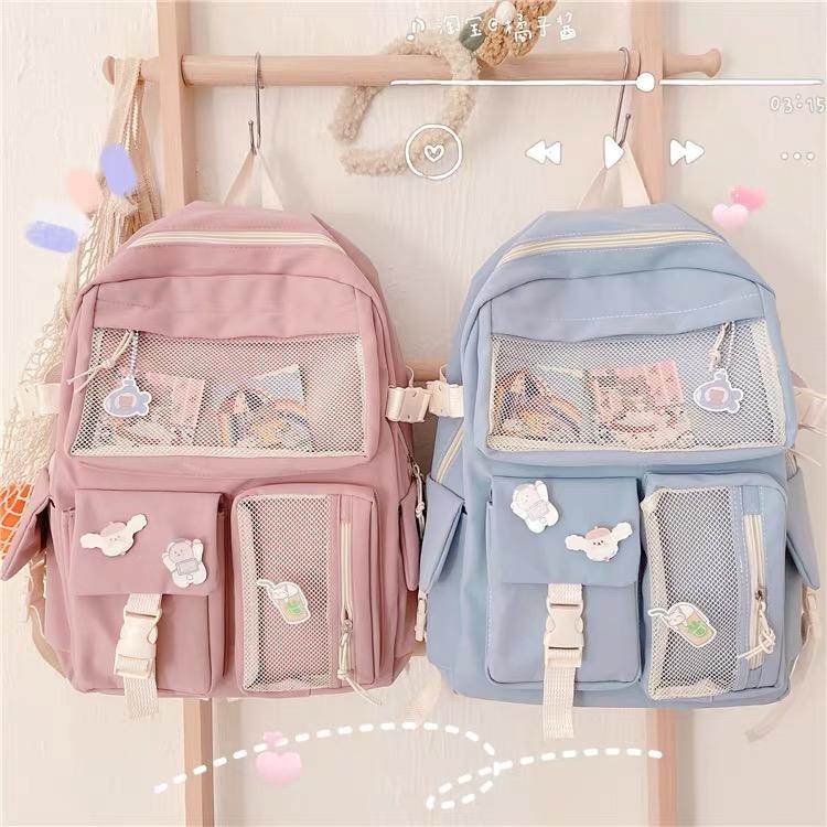 Kawaii Korea Style Large Capacity Multipocket Backpack
