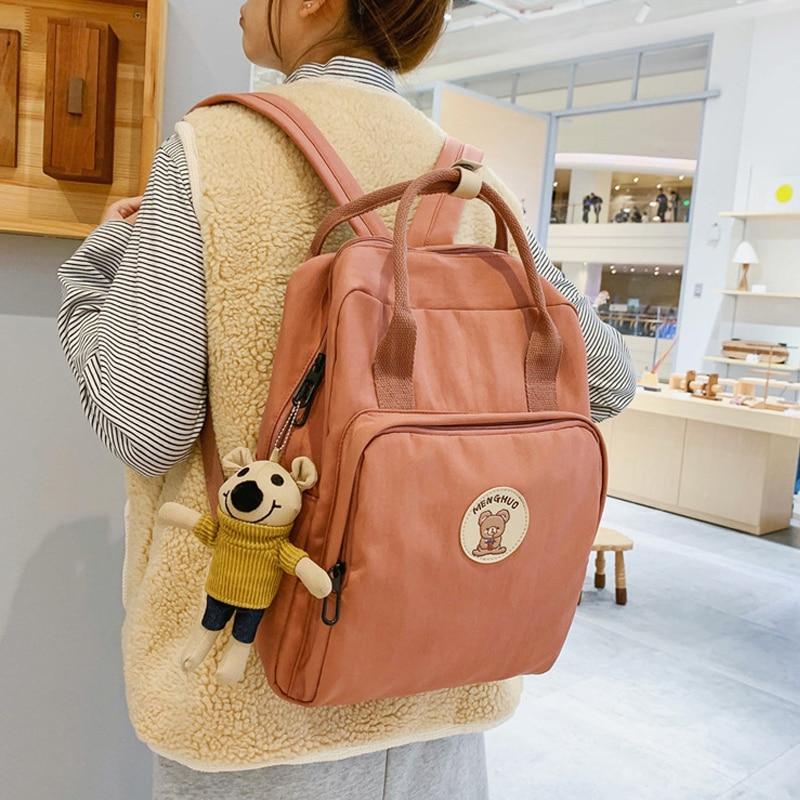 Kawaii Bear Harajuku Canvas Style Backpack – Limited Edition