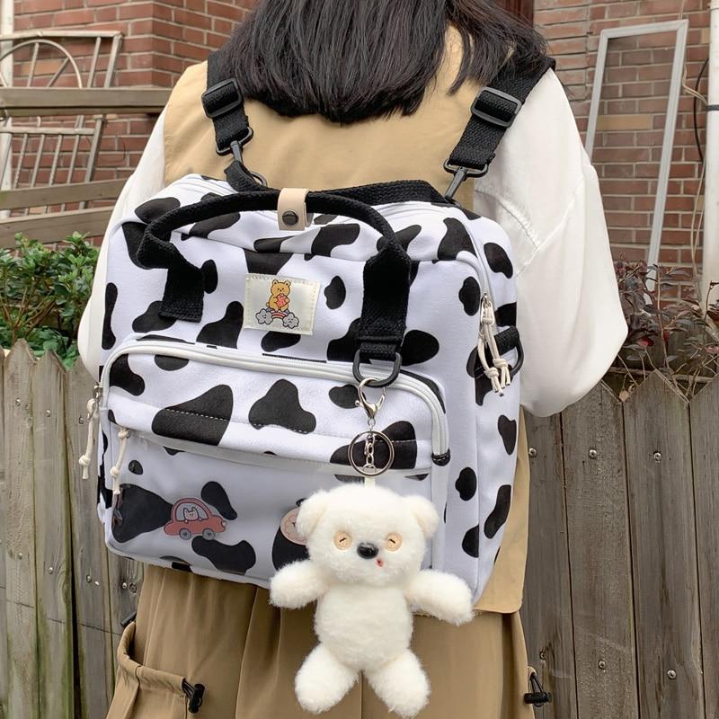 Kawaii Cow Milk Spotted Harajuku Backpack