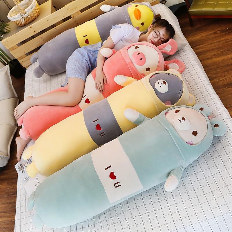 Kawaii Animal Roll Plush Collection (90cm) – Limited Edition