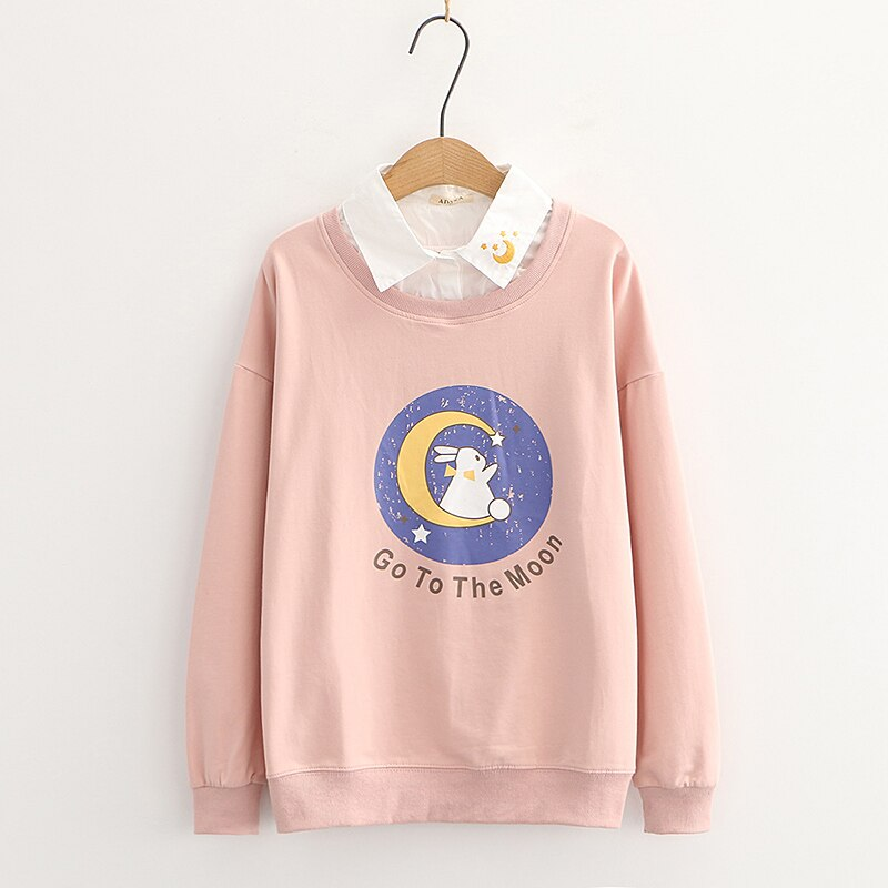 Kawaii Bunny Moon Harajuku Sweater – Limited Edition