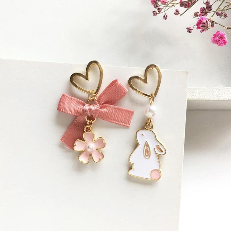 Kawaii Rabbit Cherry Blossom Earrings – Limited Edition