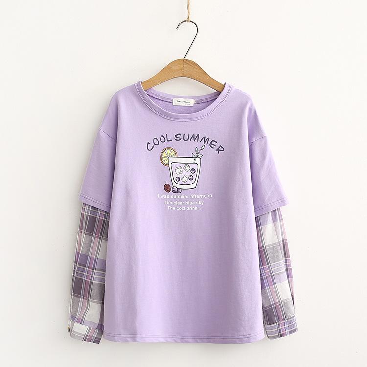 Kawaii Cool Summer Two-Piece Long Sleeve Shirt