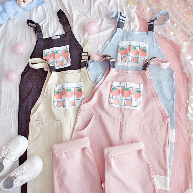Kawaii Peach Style Harajuku Jumpsuit – Limited Edition