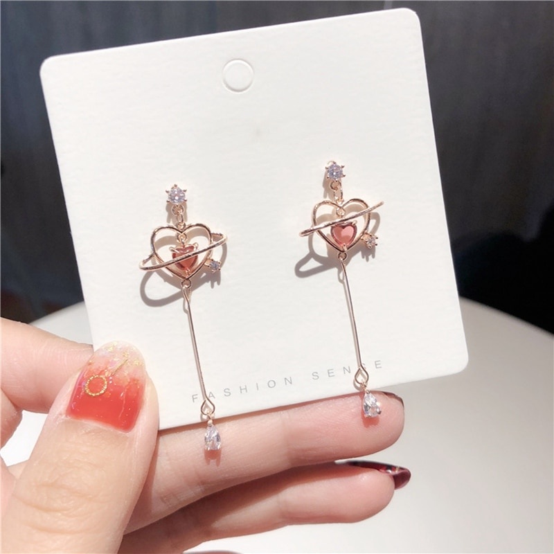 Kawaii Twinkle Heart Starry Earrings – Limited Edition