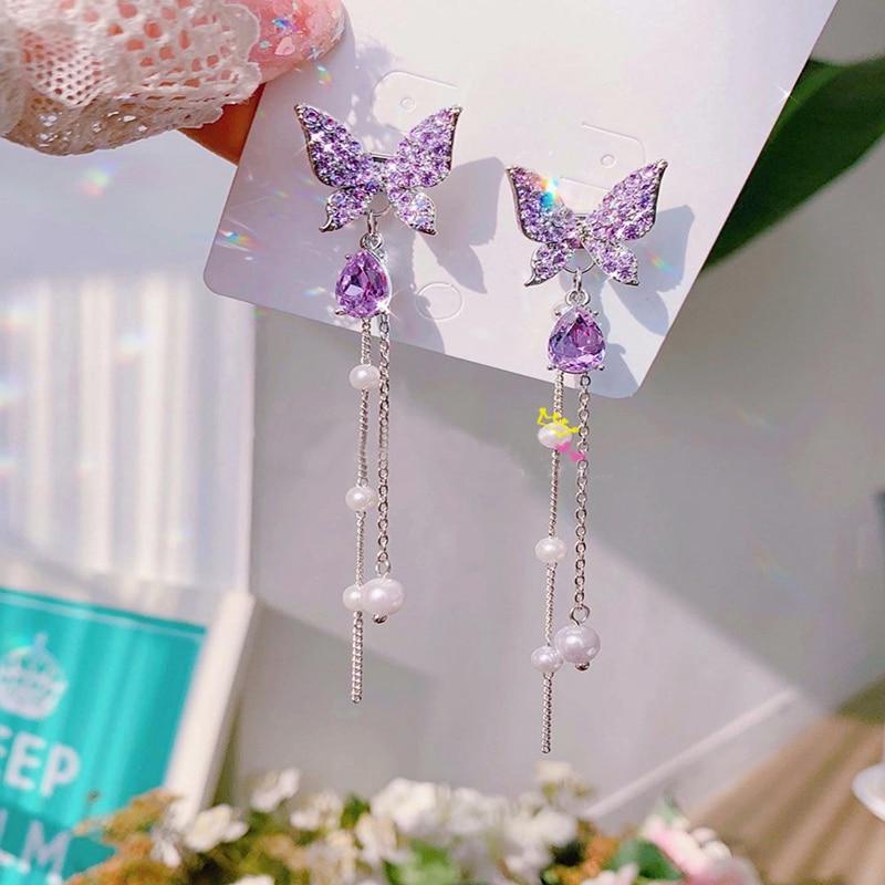 Kawaii Korean Style Butterfly Earrings – Limited Edition