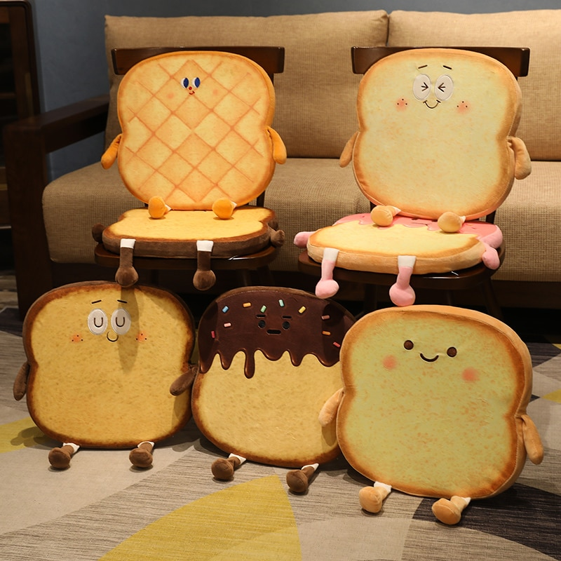 Kawaii Toasty Bread Collection Plush (40cm) – Limited Edition