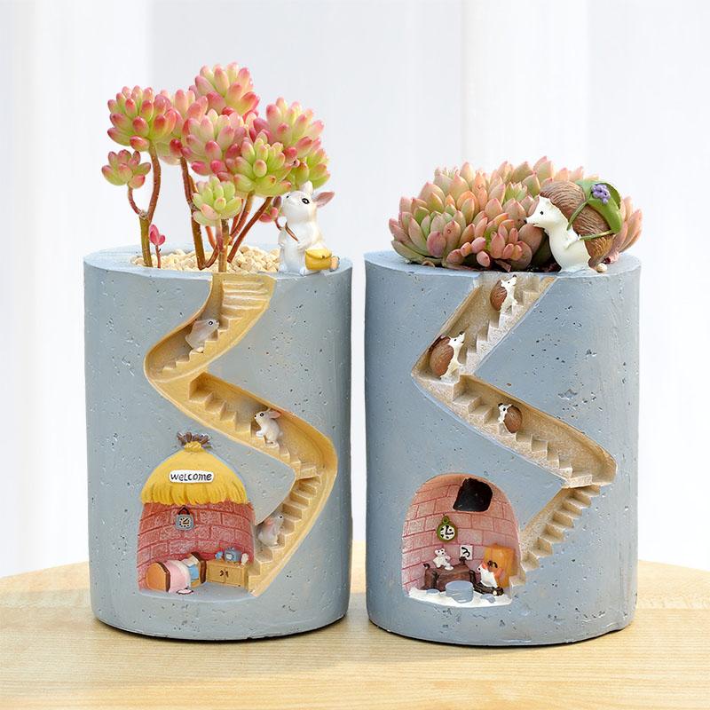 Kawaii Bunny Cavern Flower Holder  – Limited Edition