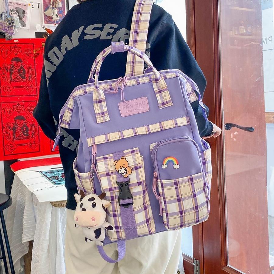 Kawaii Korea Style Canvas Pastel Backpack – Limited Edition