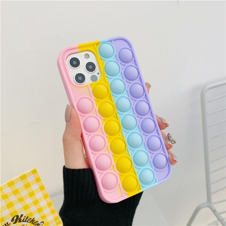 Kawaii Rainbow Pop Bubble Phone Case