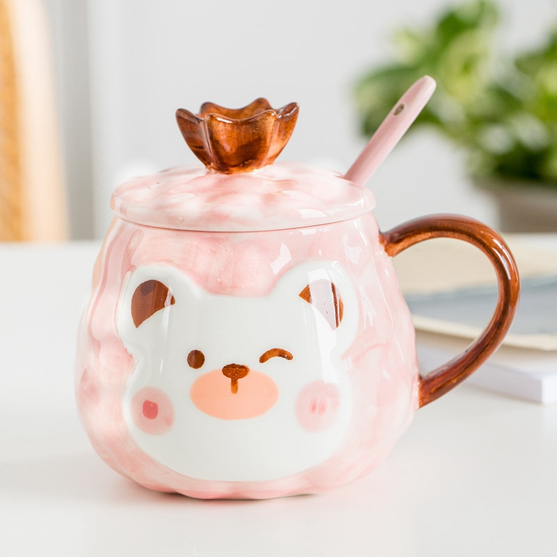 Kawaii Animal Bear Ceramic Cup (450ml)