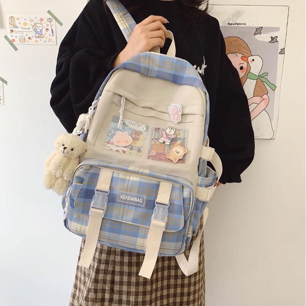 Kawaii Korea Style Canvas Pastel Backpack