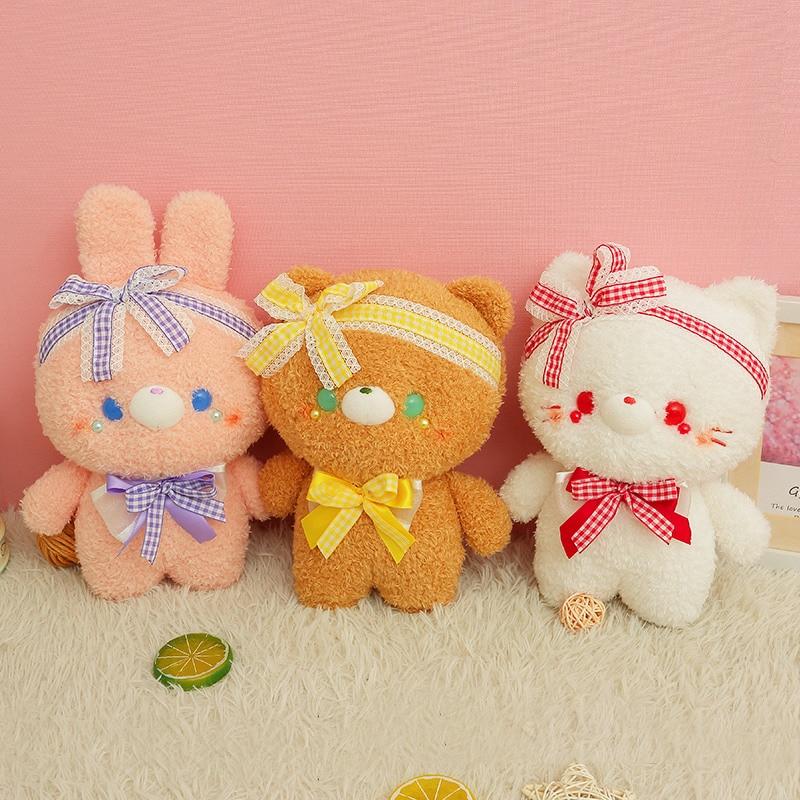 Kawaii Pastel Style Animal Plush (23cm) – Limited Edition