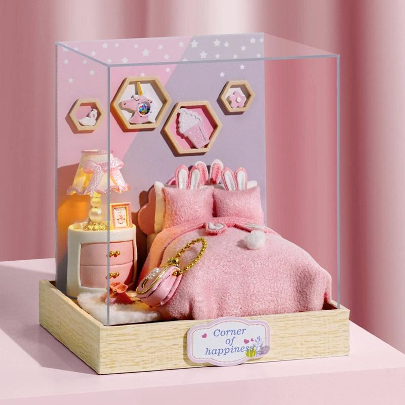 Kawaii DIY Miniature Furniture Dollhouse