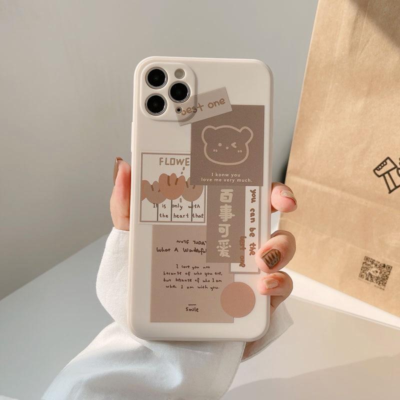 Kawaii Chocolate Bear Pastel Phone Case