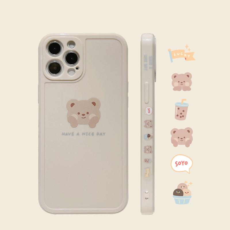 Kawaii Bubble Tea Bear Phone Case
