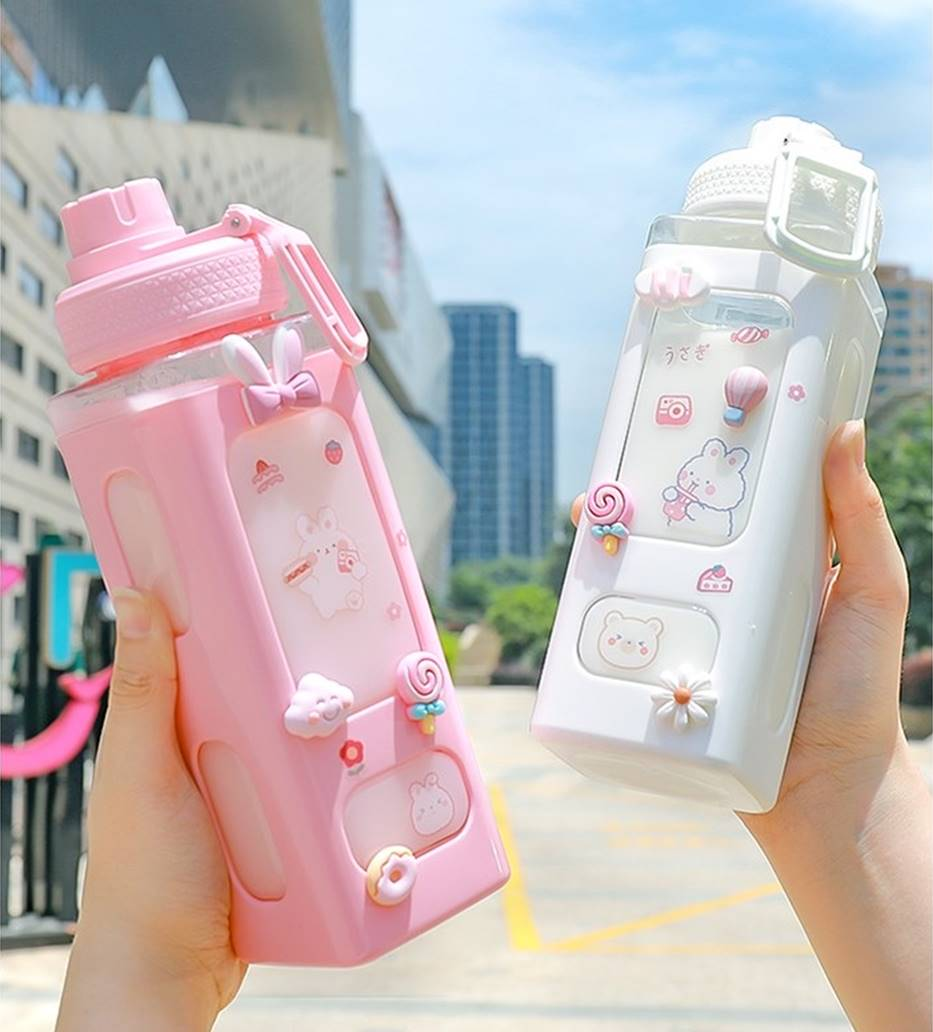 Kawaii Pastel Transparent Style Bottle – Limited Edition