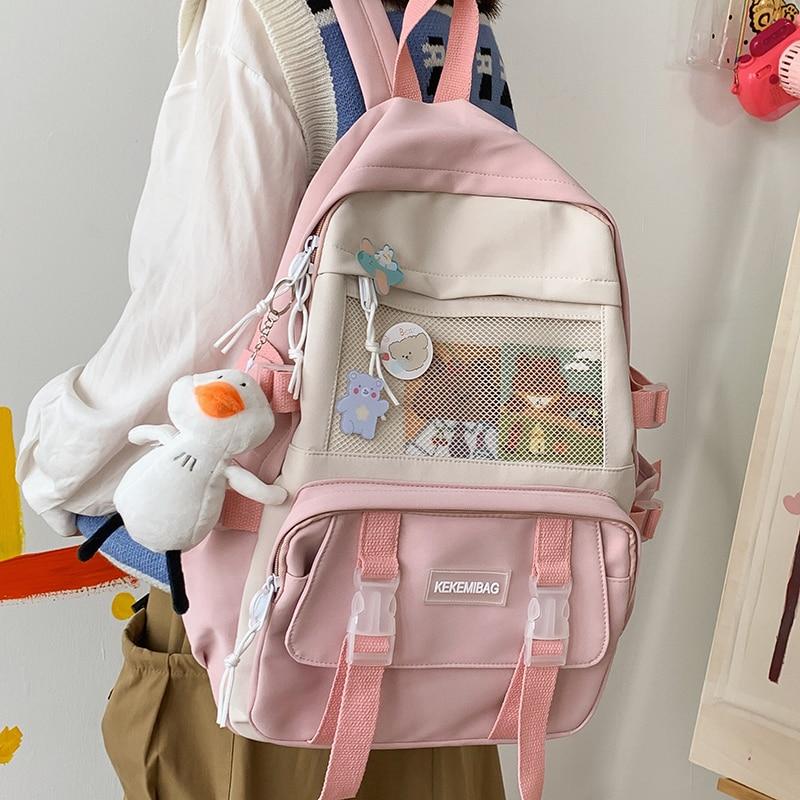 Kawaii Canvas Harajuku School Backpack – Limited Edition