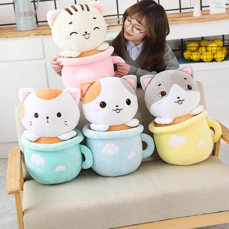 Kawaii Neko Cat Tea Cup Plush – Limited Edition