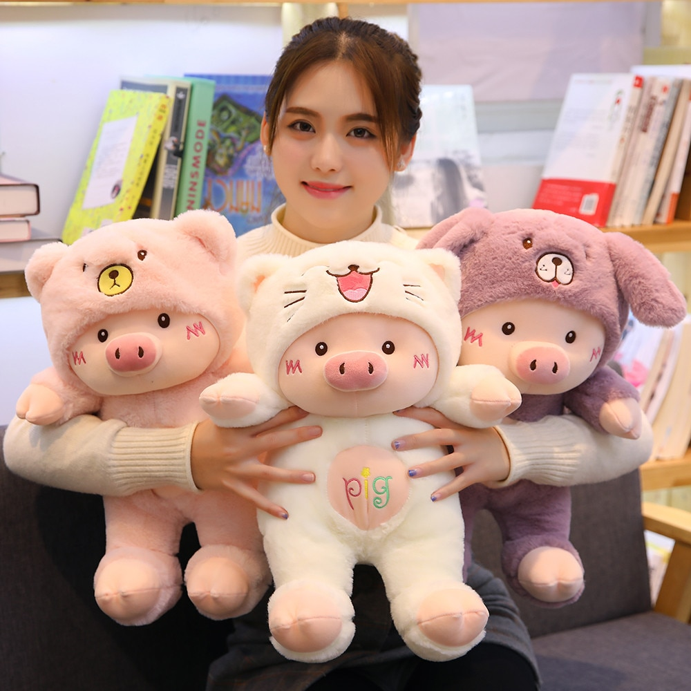 Kawaii Lovely Pig Dressed Up Plush – Limited Edition