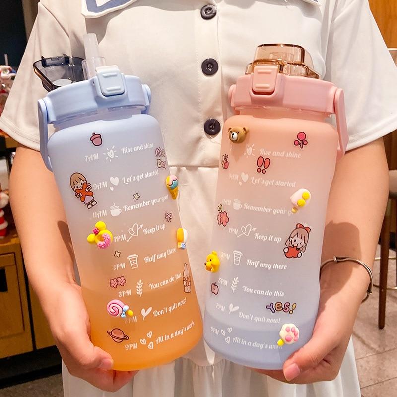 Kawaii Jumbo Pastel Style Water Bottle