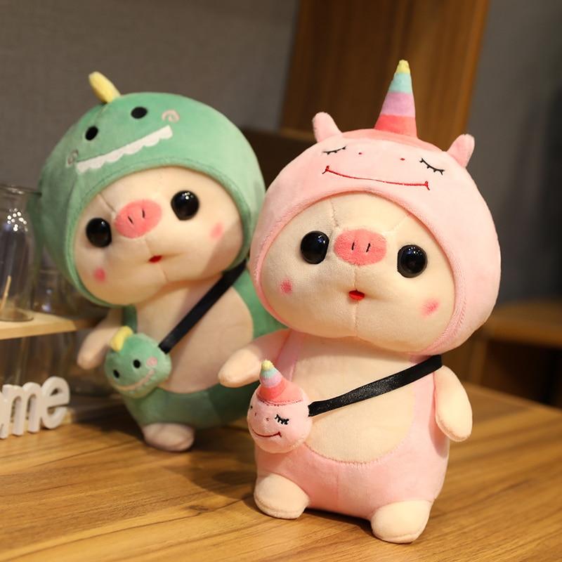Kawaii Dress Up Chubby Pig Plush (35cm) – Limited Edition